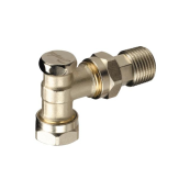 DANFOSS ANGLED LOCKSHIELD VALVE 15MM