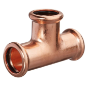 22MM M-PRESS EQUAL TEE COPPER