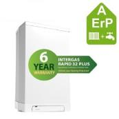 INTERGAS RAPID PLUS 25 COMBI/BACKPLATE & HOR FLUE (6 YEAR WARRANTY)